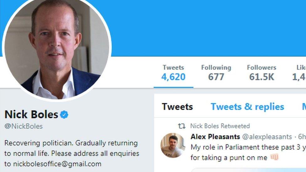Nick Boles' Twitter profile