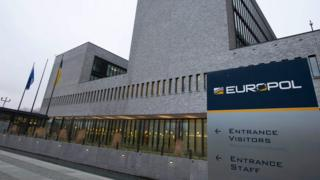 Europol headquarters at the Hague in the Netherlands.