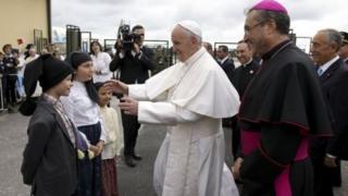 Papa yashize ikirenge mu ca Papa Jean Paul II yagendeye Fatima
