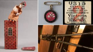 Objects associated with suffragettes