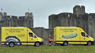 Morrisons delivery vans