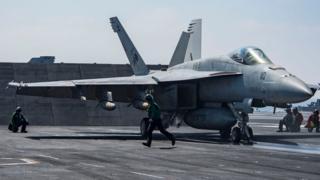 Avión caza F/A-18 Super Hornet de Estados Unidos