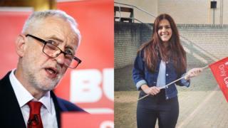 Jeremy Corbyn and Melantha Chittenden