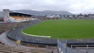 A view from inside the old Casement Park stadium