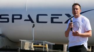 Elon Musk, speaks at the SpaceX Hyperloop Pod Competition in Hawthorne, California, 27 August 2017