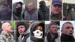 Images of those sought after clashes in Dover in January