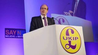 Mark Reckless speaking in Doncaster