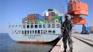 Puerto de Gwadar bajo custodia.