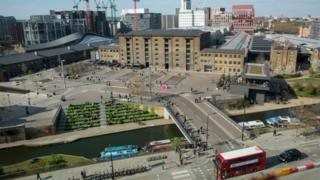 aerial view of Kings Cross