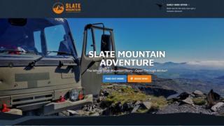 Tudalen flaen gwefan Slate Mountain