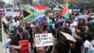 Waandamana dhidi ya uongozi wa rais Jacob Zuma