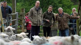 Duke and Duchess of Cambridge Deepdale Hall Farm, a traditional fell sheep farm, in Patterdale