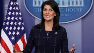 United States Ambassador to the United Nations Nikki Haley