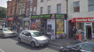 Oriental Food store in High Street, Cheltenham
