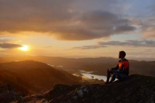 Sunrise at Loch Achray from Ben A'an