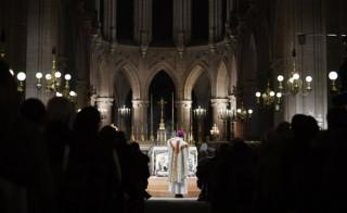 in_pictures midnight mass for Christmas at the Saint Germain l