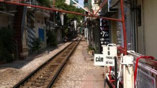 Railway track in Hanoi