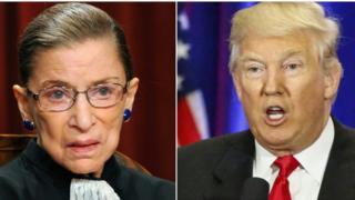 Ginsburg y Trump