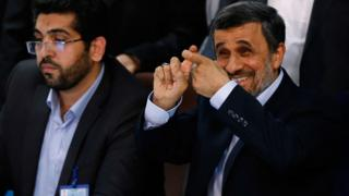Mahmoud Ahmadinejad registers for Iran's presidential election in Tehran (12 April 2017)