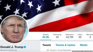 The president's personal Twitter account has a huge 33.7 million followers
