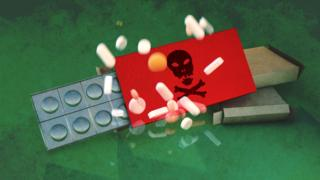 environment Illustrated abstract image of fake medication