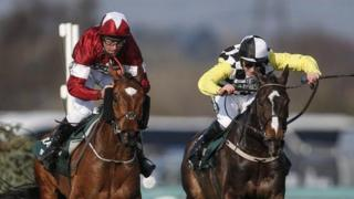 Davy Russell (left) claimed his first Grand National win on Saturday