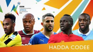 Tartanka ciyaaryahanka Afrika ugu wanaagsan ee BBC sanadka 2016