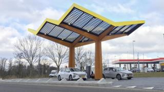 Fastned electric vehicle rapid filling station