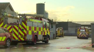 The Northern Ireland Fire and Rescue Service (NIFRS) said six of its crews are currently attending the scene at Ballinderry Road