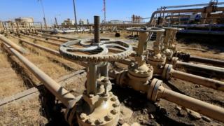 Kerkük'teki Dibis petrol sahası