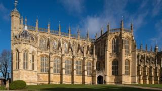 A general view shows St George's Chapel at Windsor Castle,
