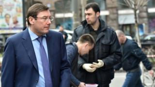 Юрий Луценко на месте убийства