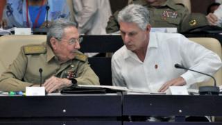 Рауль Кастро и Диас-Канель