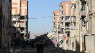 Rugujiwar gidaje a girgizar kasa a Iran