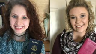 Morgan Grant and Hilary Cassoday - two new US passport holders