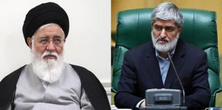 """علی مطهری (راست) احمد علمالهدی را به """"ناآگاهی"""" متهم کرده است"""