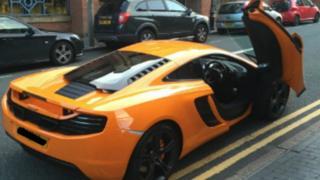Orange supercar