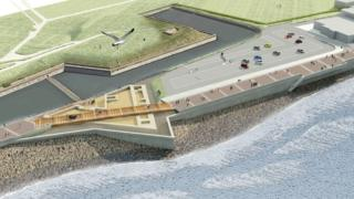 An artist's impression of planned defences at Long Curtain Moat