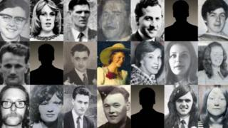 A composite picture of the victims