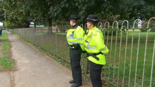 A section of Edmonds Park in Didcot has been cordoned off by police