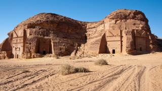 Ruins of the ancient city of Mada'in Saleh
