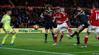 Diego Costa yana cin Middlesbrough