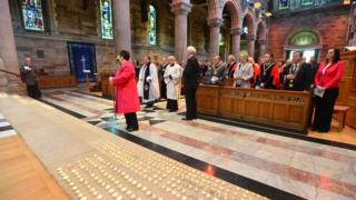 St Anne's Cathedral Blitz commemoration