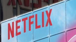 The Netflix logo is seen on their office in Hollywood, Los Angeles, California, US