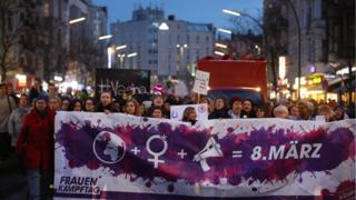 International Women's Day march, Berlin, 2018