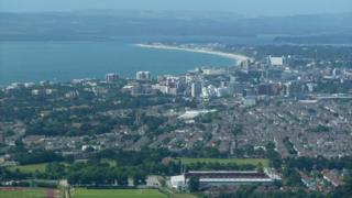 Bournemouth and Poole from the air