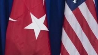 Turkish and US flags. File photo