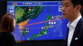 ژاپن و کره جنوبی از آزمایش موشکی تازه کره شمالی ابراز نگرانی کرده اند