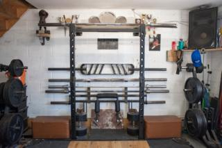 Mikey Lane's gym equipment