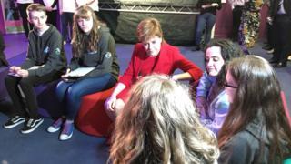 Nicola Sturgeon at launch